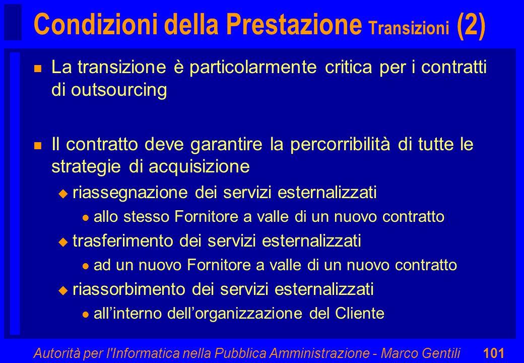 Condizioni della Prestazione Transizioni (2)