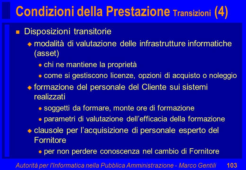 Condizioni della Prestazione Transizioni (4)