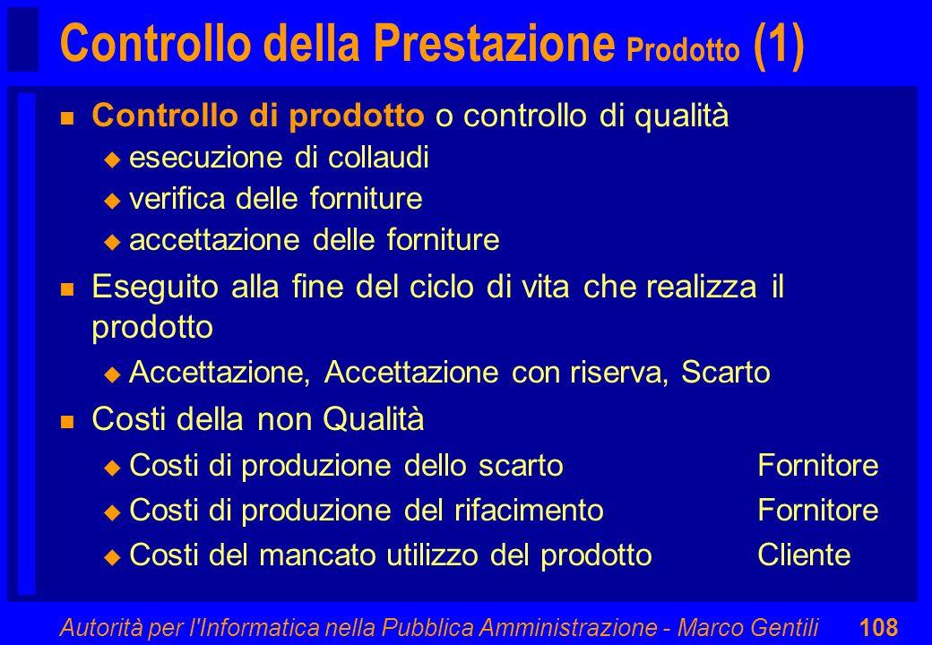 Controllo della Prestazione Prodotto (1)