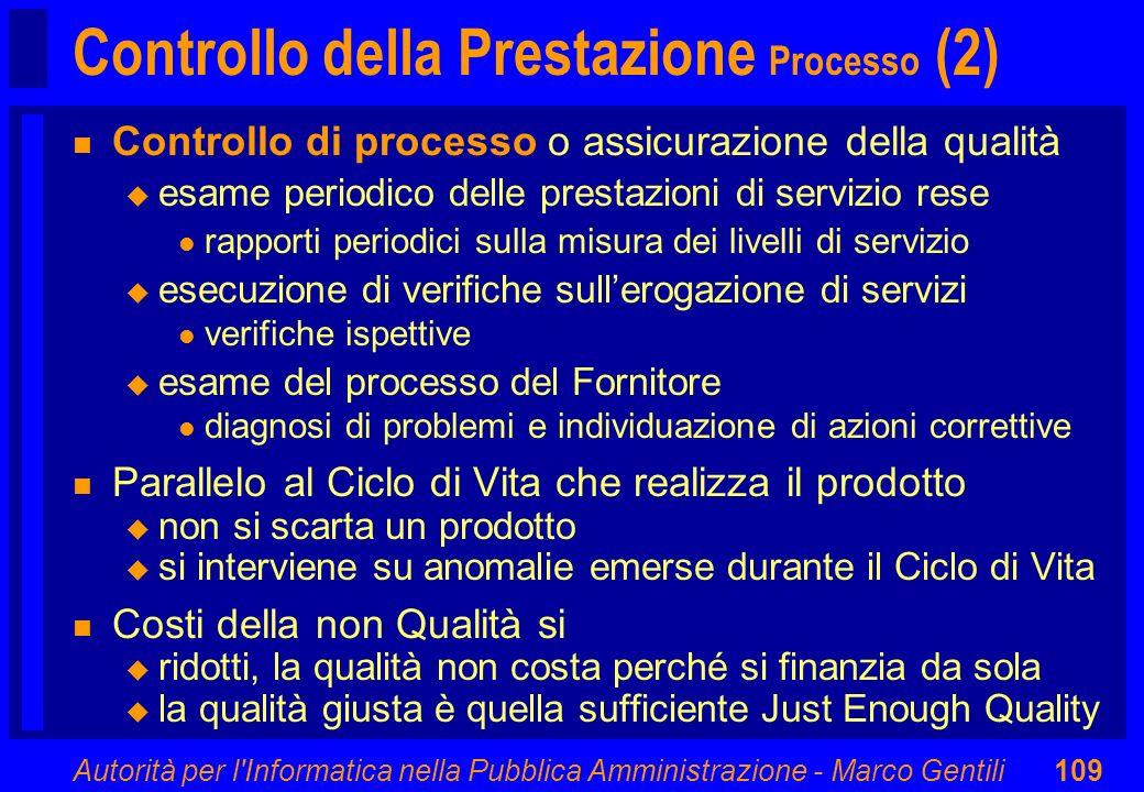 Controllo della Prestazione Processo (2)