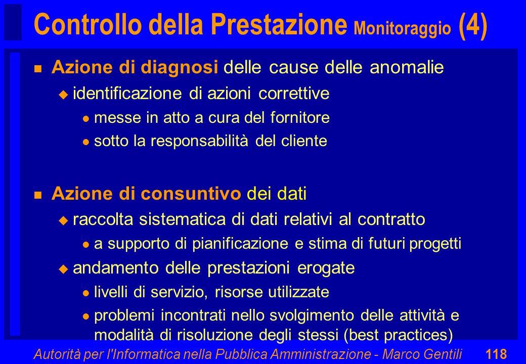 Controllo della Prestazione Monitoraggio (4)
