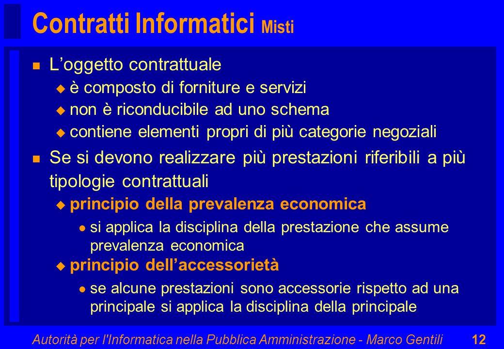 Contratti Informatici Misti