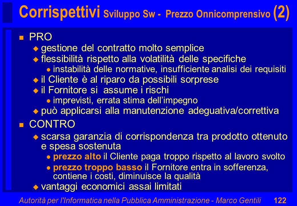 Corrispettivi Sviluppo Sw - Prezzo Onnicomprensivo (2)