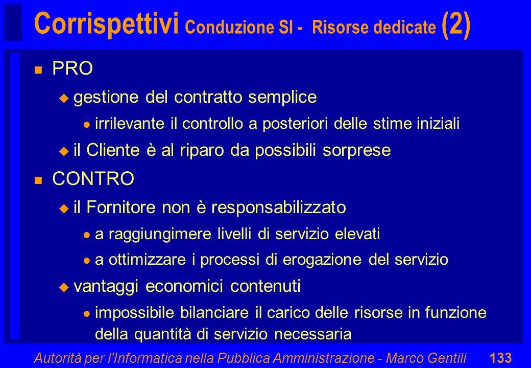 Corrispettivi Conduzione SI - Risorse dedicate (2)