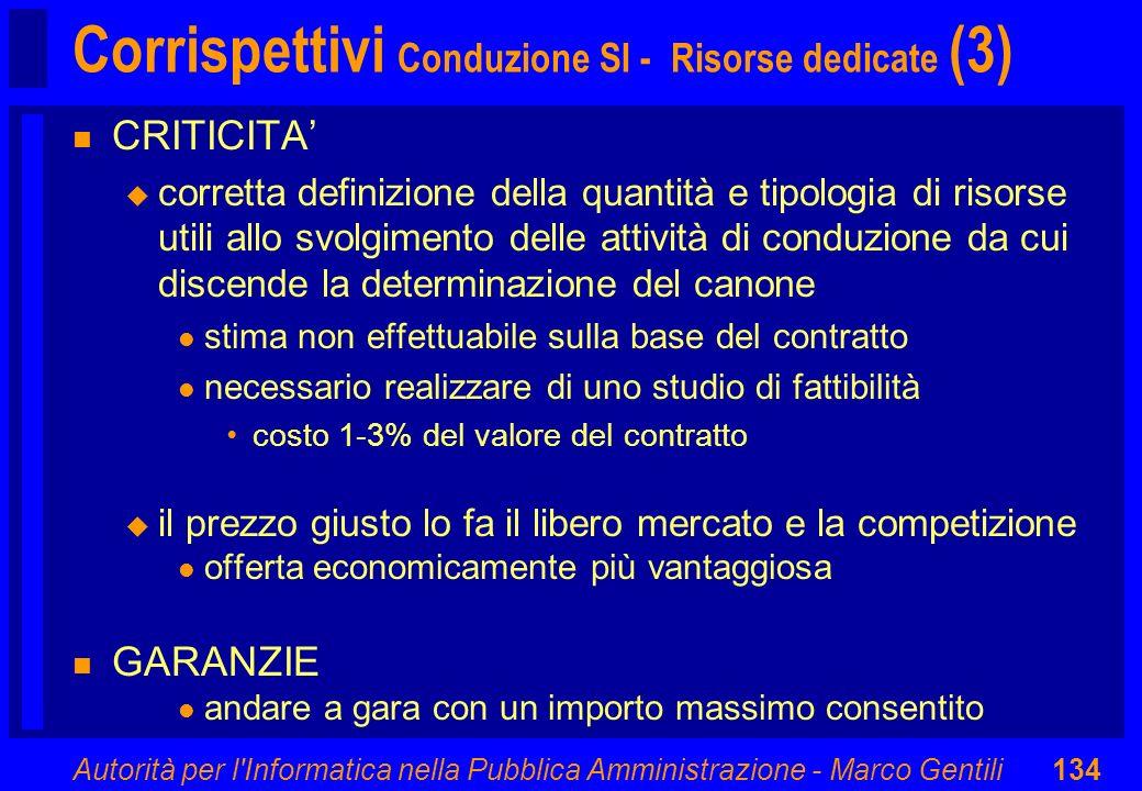 Corrispettivi Conduzione SI - Risorse dedicate (3)