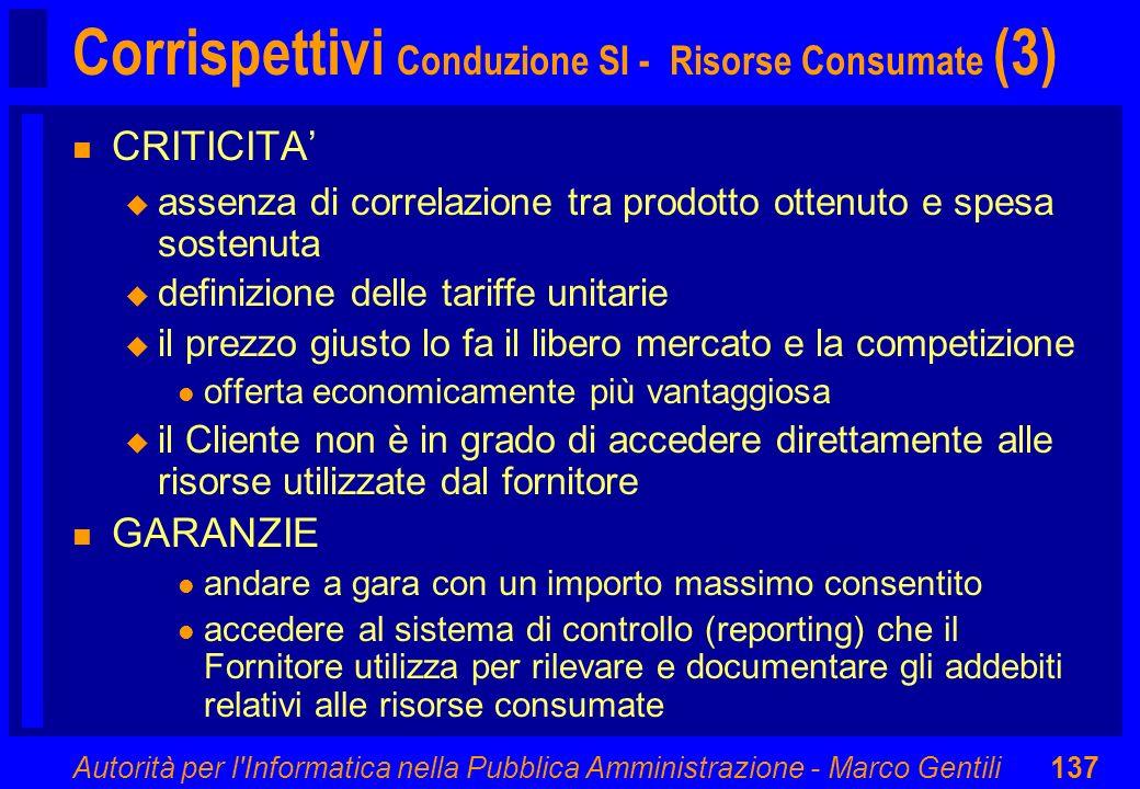 Corrispettivi Conduzione SI - Risorse Consumate (3)
