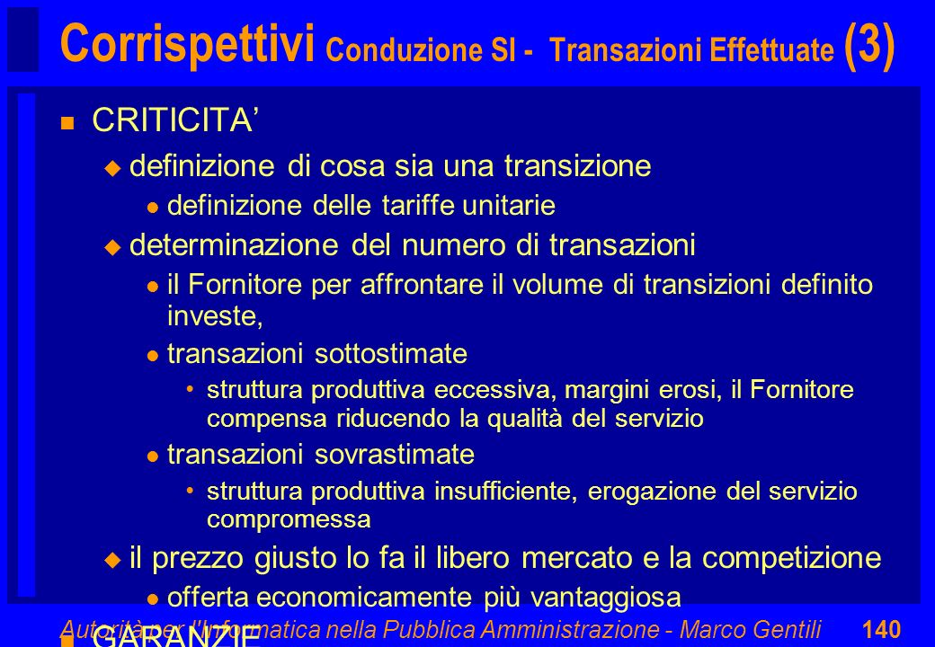 Corrispettivi Conduzione SI - Transazioni Effettuate (3)