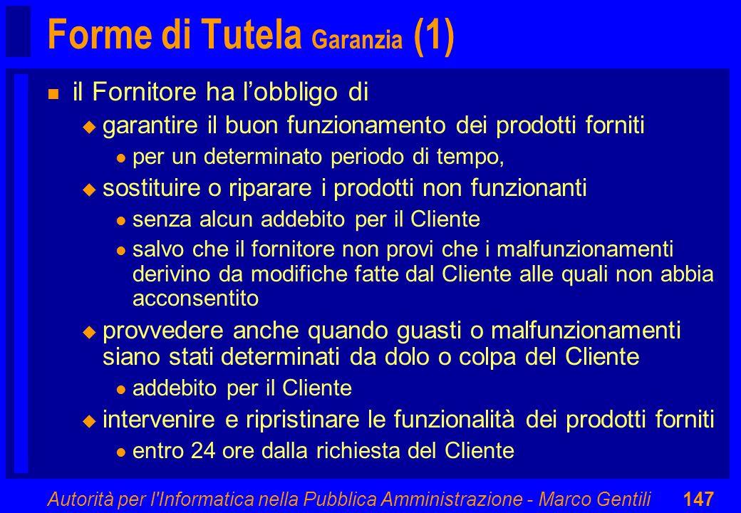 Forme di Tutela Garanzia (1)