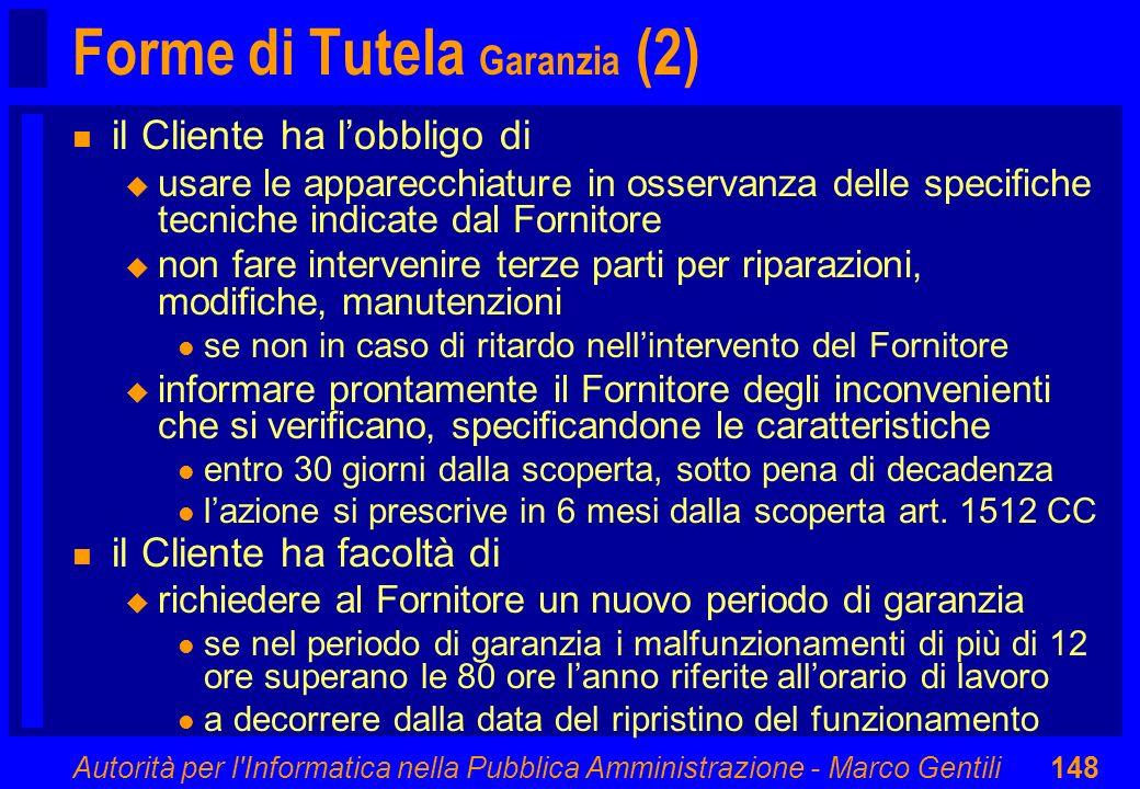 Forme di Tutela Garanzia (2)