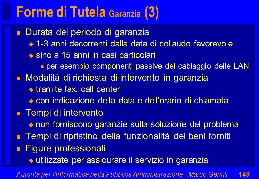 Forme di Tutela Garanzia (3)