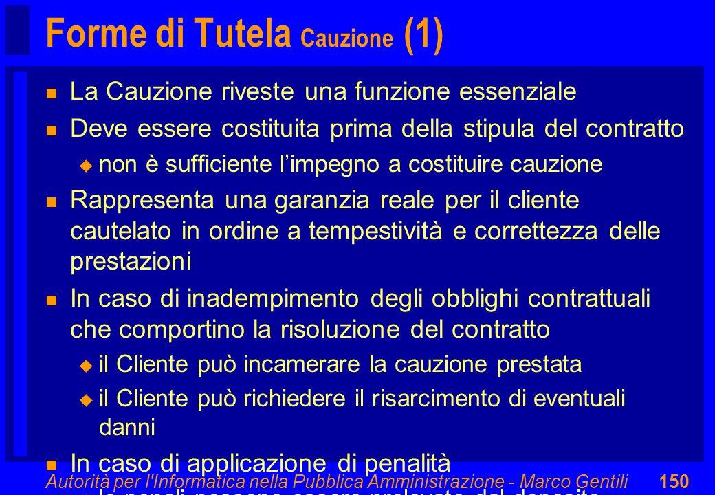 Forme di Tutela Cauzione (1)