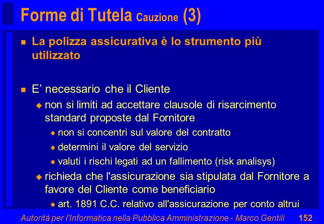 Forme di Tutela Cauzione (3)