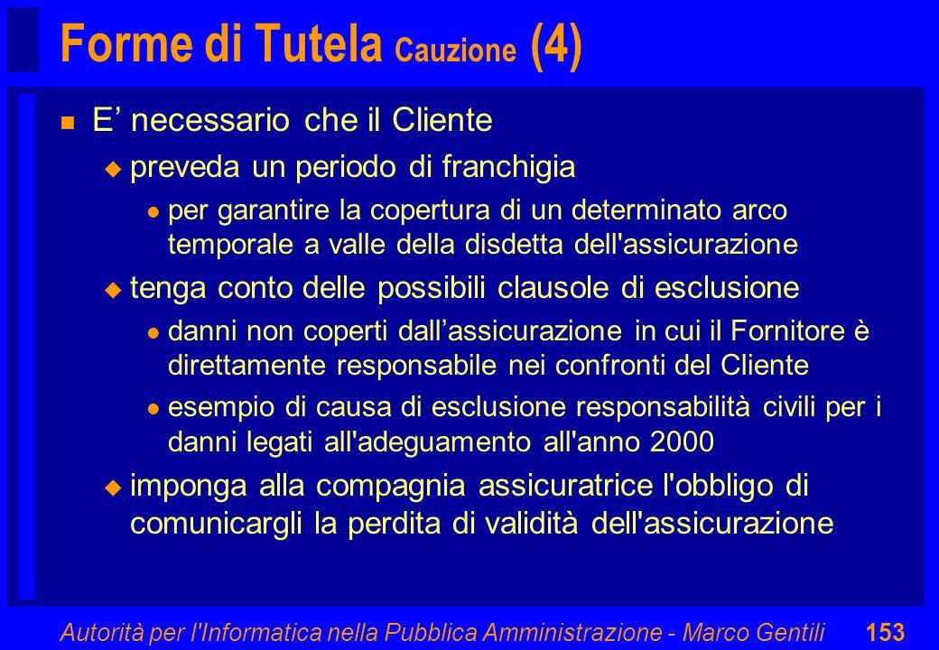Forme di Tutela Cauzione (4)