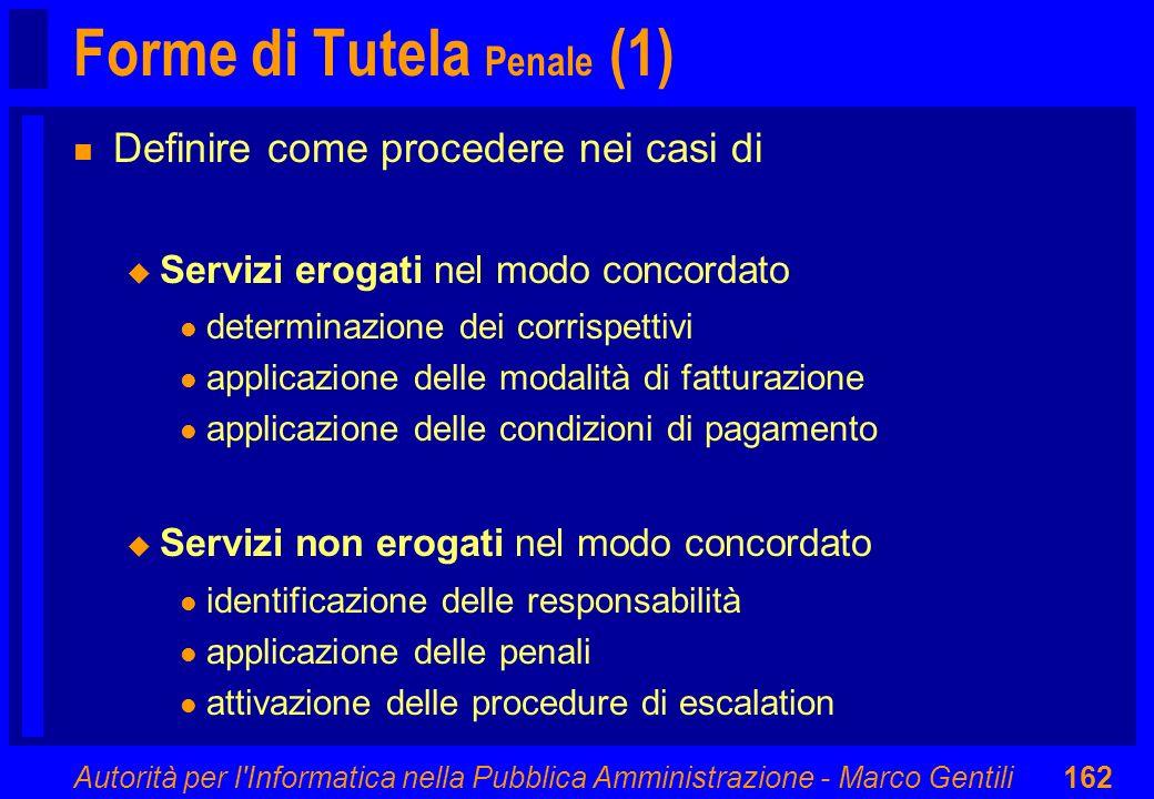 Forme di Tutela Penale (1)
