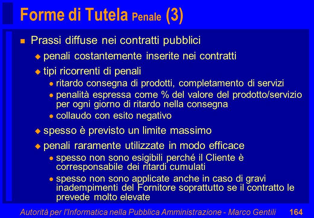 Forme di Tutela Penale (3)