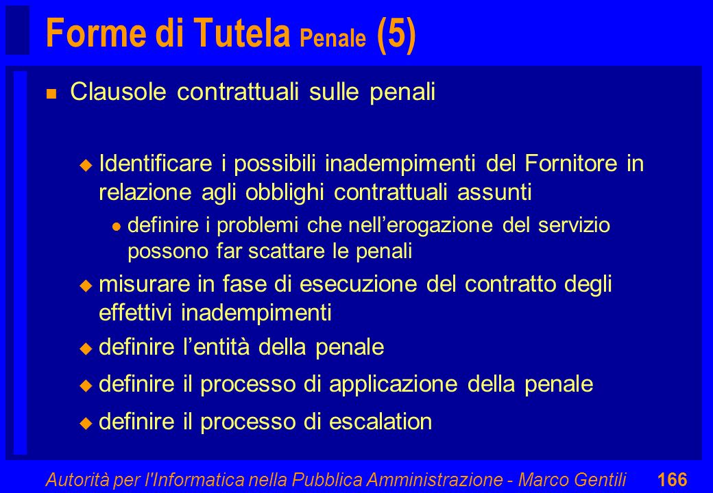 Forme di Tutela Penale (5)