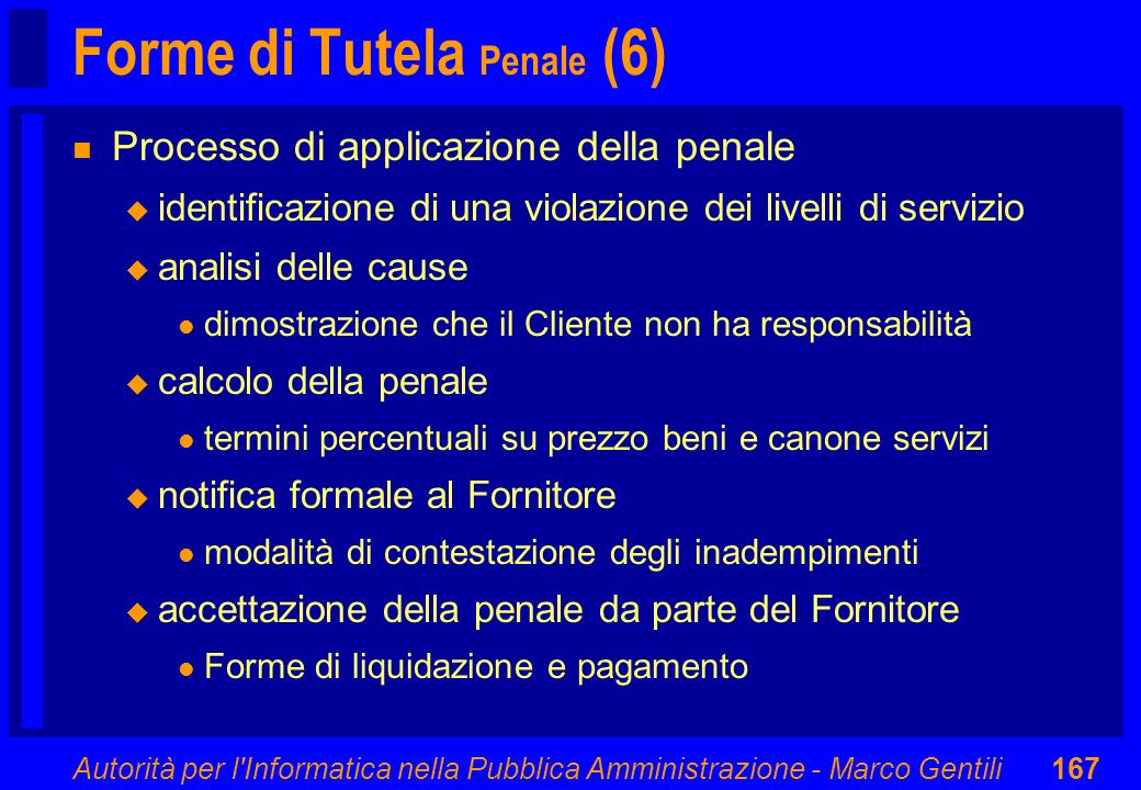 Forme di Tutela Penale (6)
