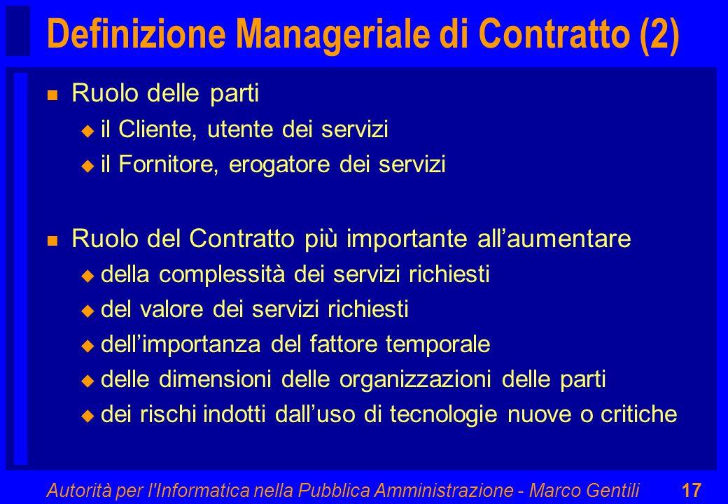 Definizione Manageriale di Contratto (2)