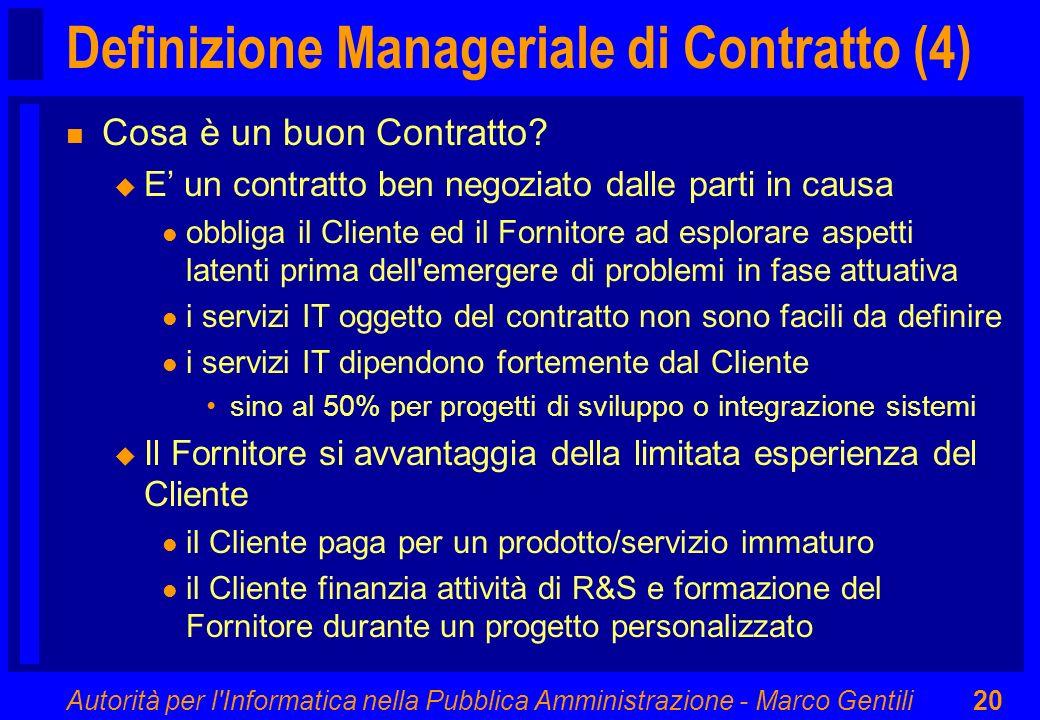 Definizione Manageriale di Contratto (4)