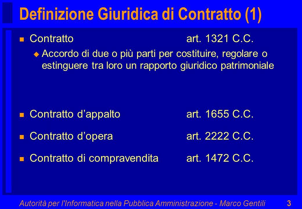 Definizione Giuridica di Contratto (1)