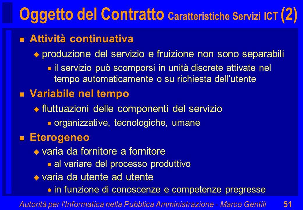 Oggetto del Contratto Caratteristiche Servizi ICT (2)