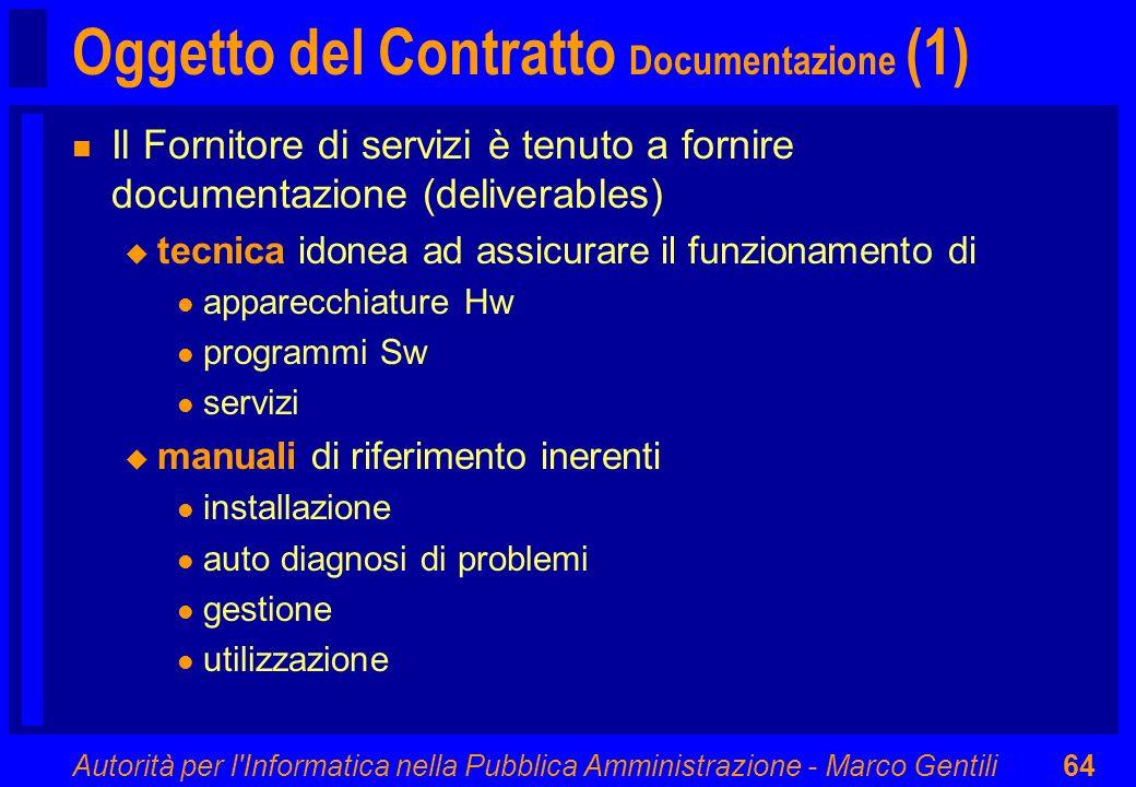 Oggetto del Contratto Documentazione (1)