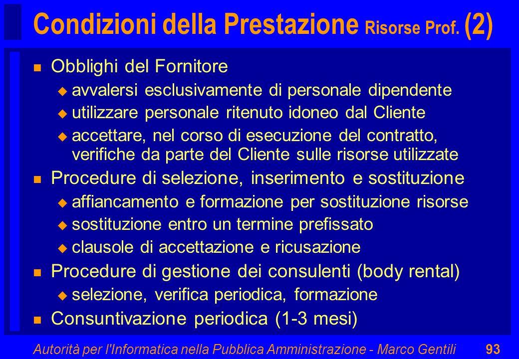 Condizioni della Prestazione Risorse Prof. (2)