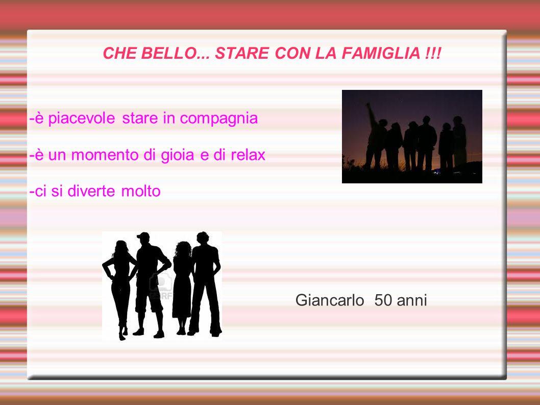 CHE BELLO... STARE CON LA FAMIGLIA !!!