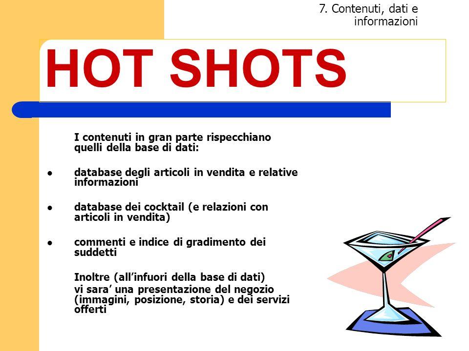 HOT SHOTS 7. Contenuti, dati e informazioni