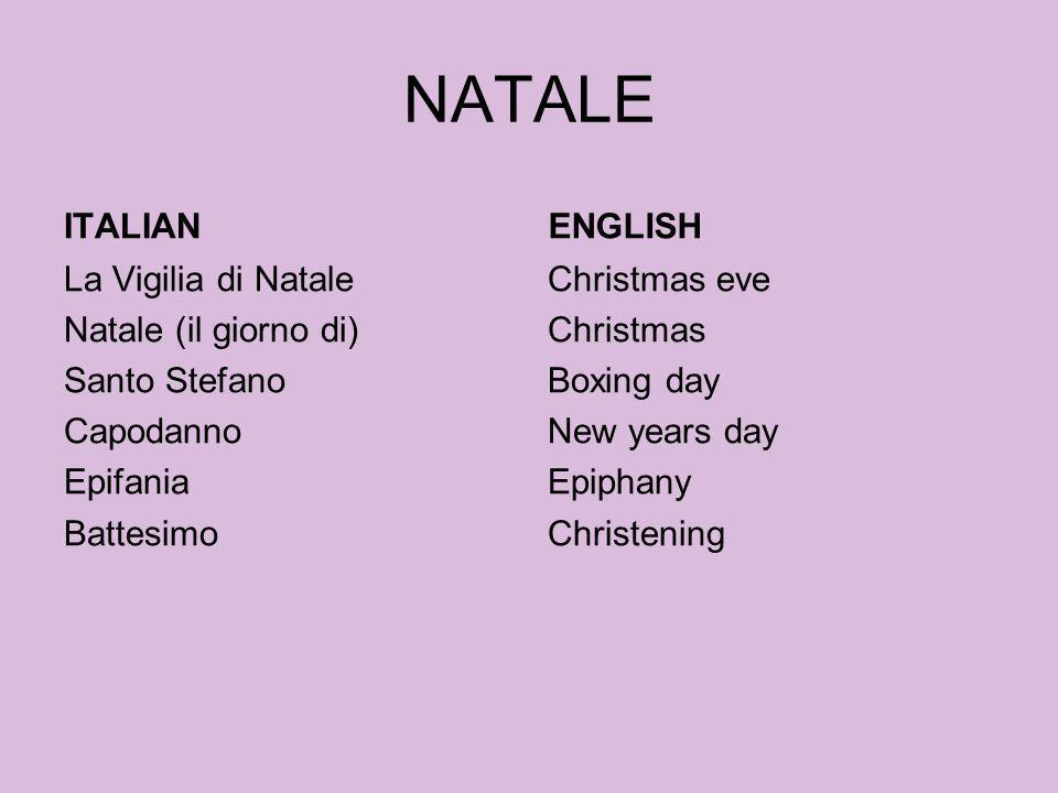 NATALE ITALIAN ENGLISH