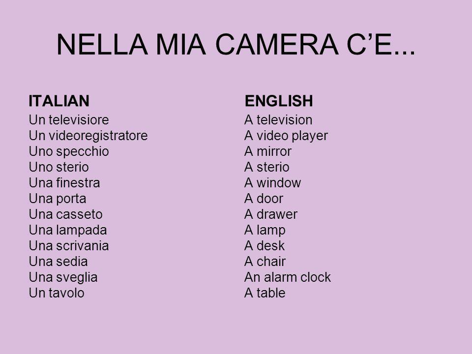 NELLA MIA CAMERA C'E... ITALIAN ENGLISH