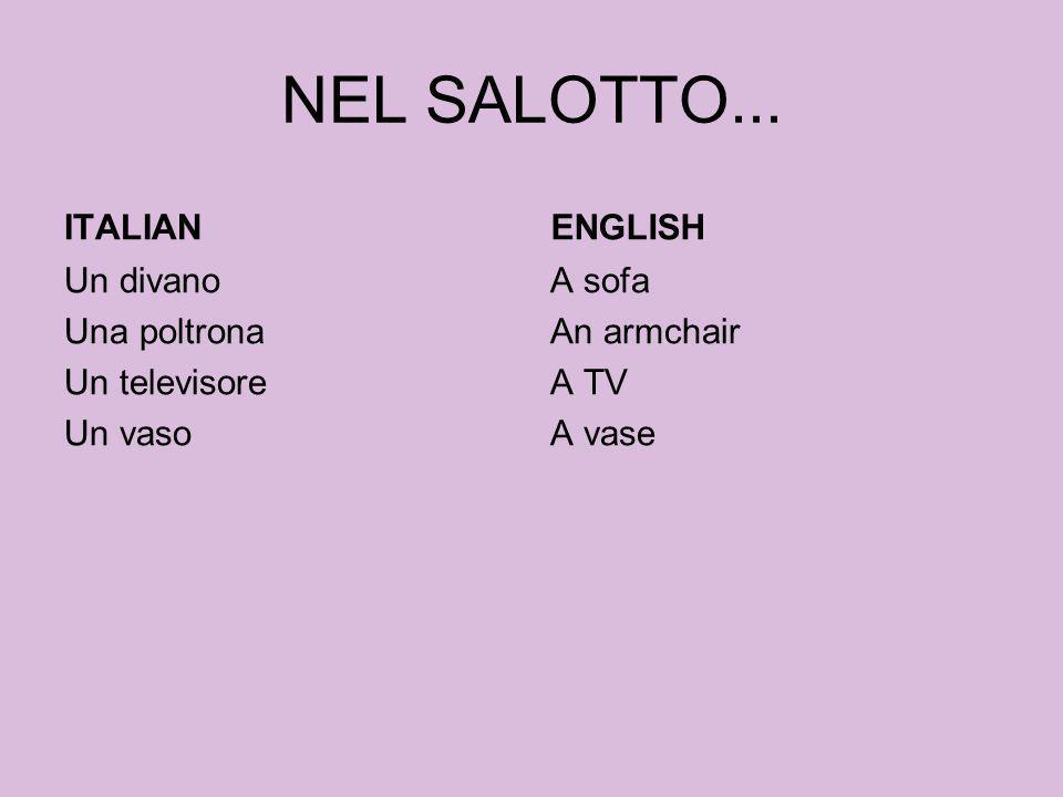 NEL SALOTTO... ITALIAN ENGLISH