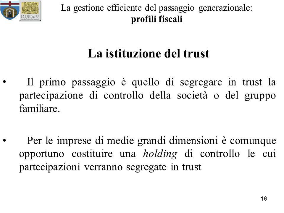 La istituzione del trust