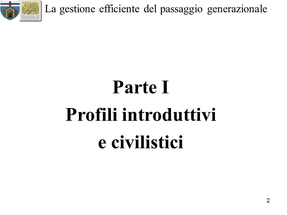 Parte I Profili introduttivi e civilistici
