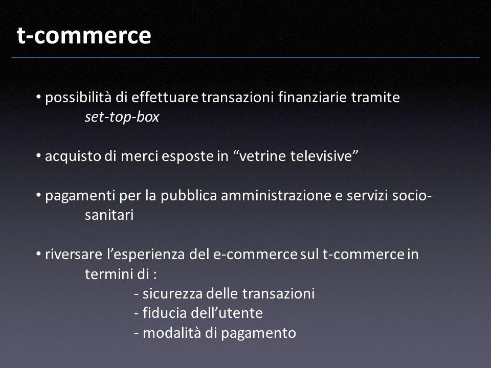 t-commerce possibilità di effettuare transazioni finanziarie tramite