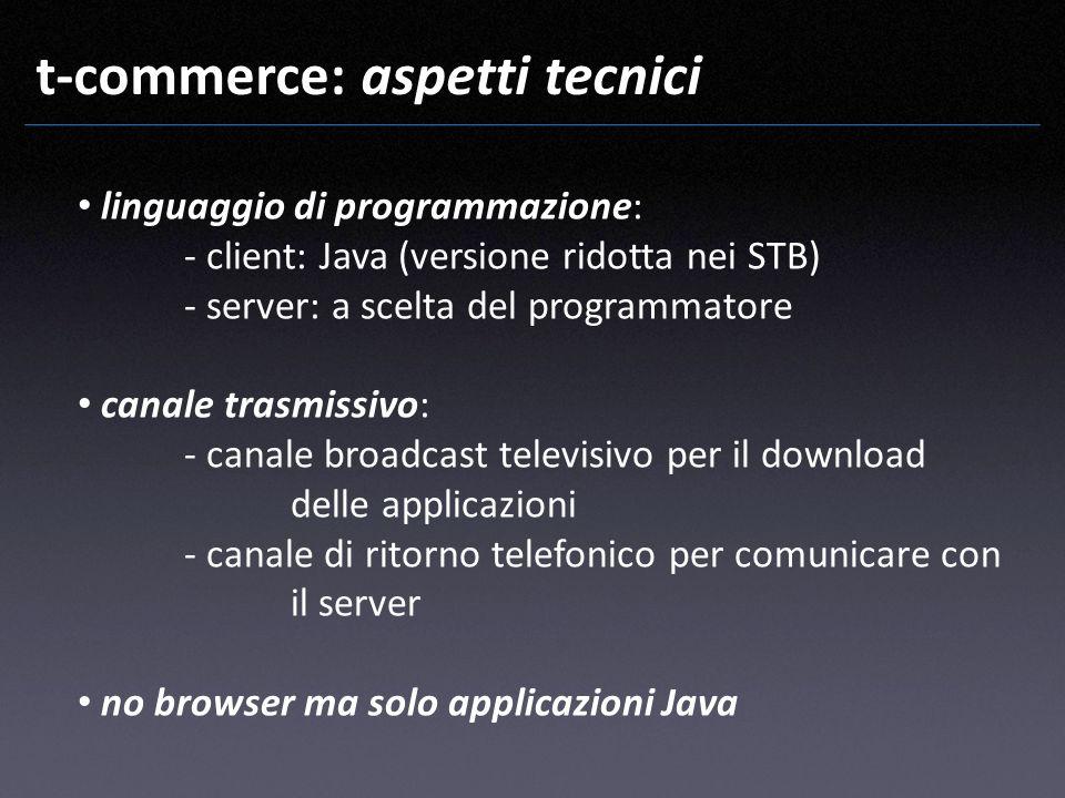 t-commerce: aspetti tecnici