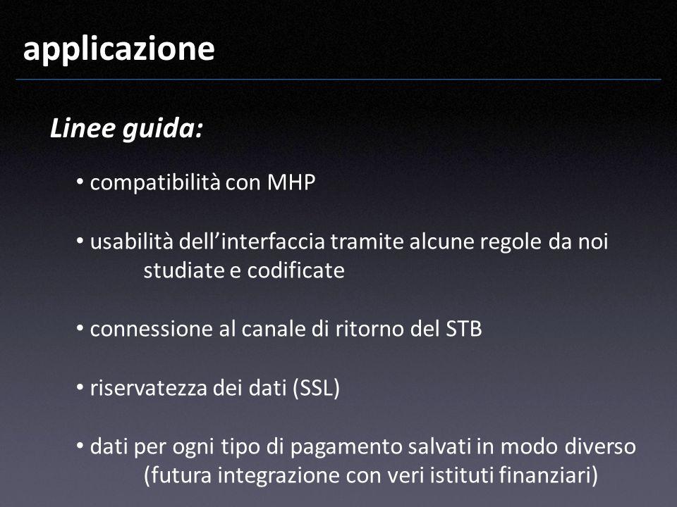 applicazione Linee guida: compatibilità con MHP