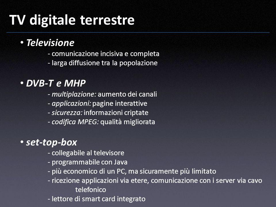 TV digitale terrestre Televisione DVB-T e MHP set-top-box