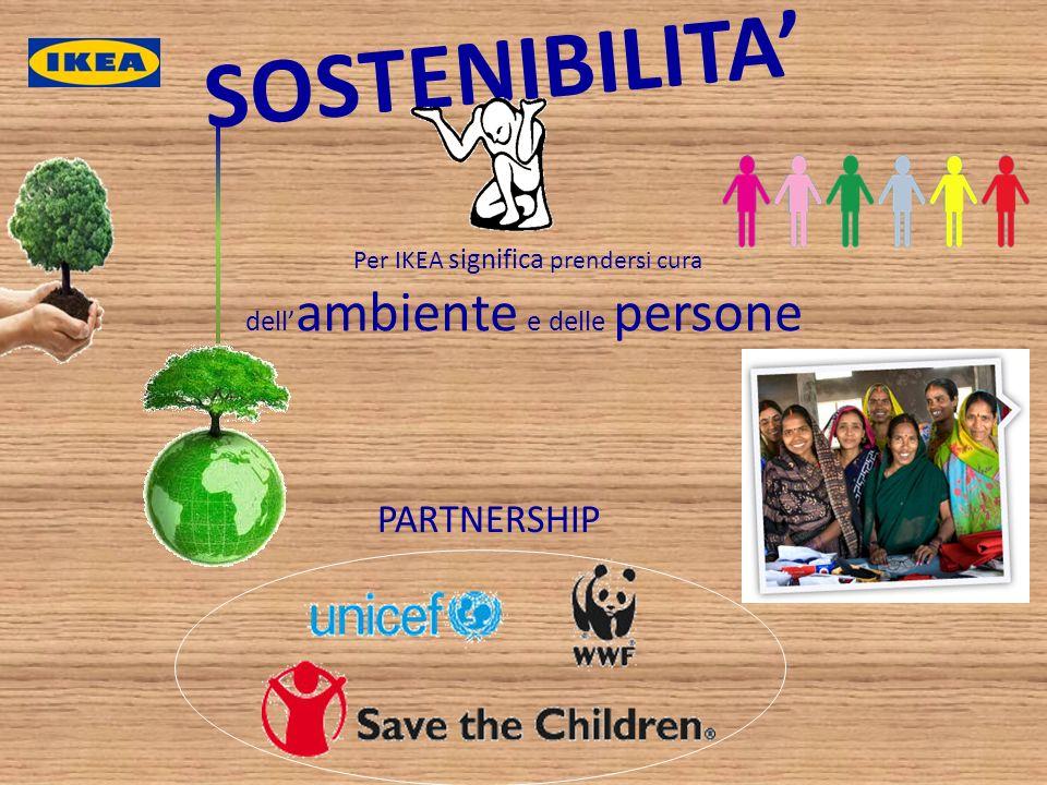 SOSTENIBILITA' PARTNERSHIP dell'ambiente e delle persone