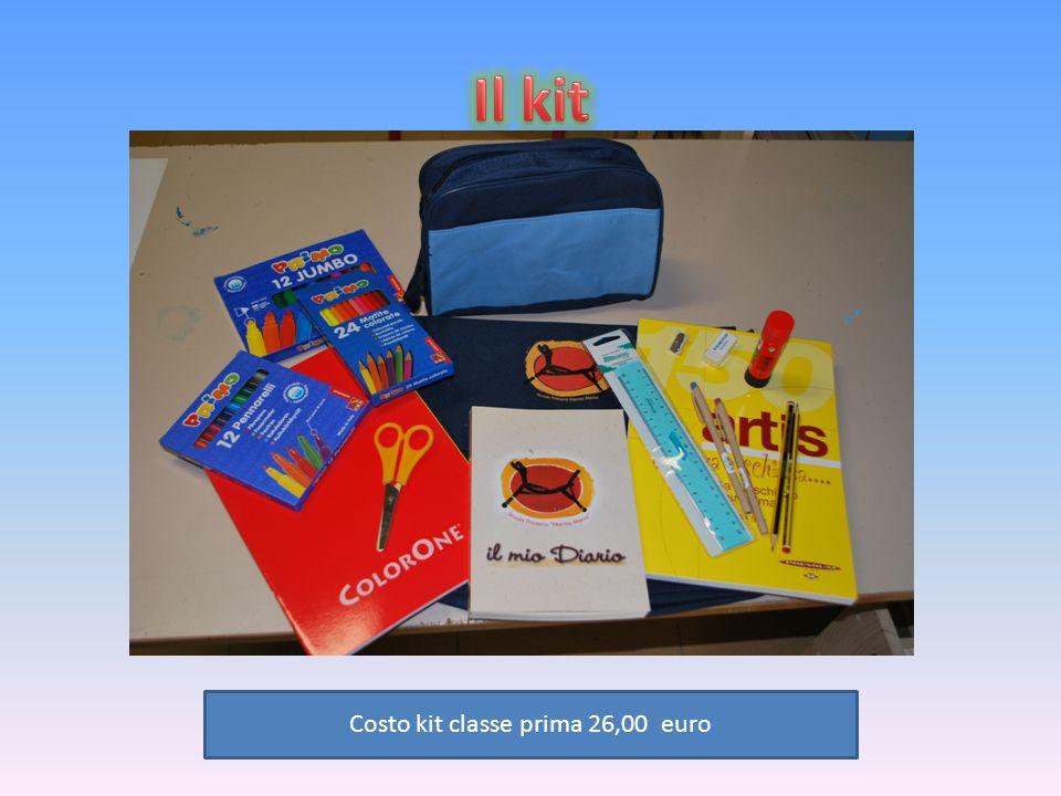 Costo kit classe prima 26,00 euro