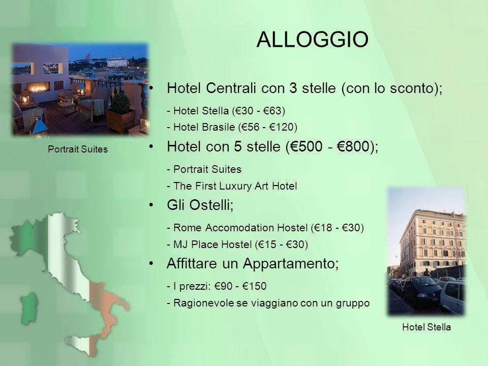 ALLOGGIO Hotel Centrali con 3 stelle (con lo sconto);