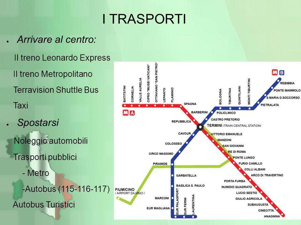 I TRASPORTI Arrivare al centro: Il treno Leonardo Express Spostarsi
