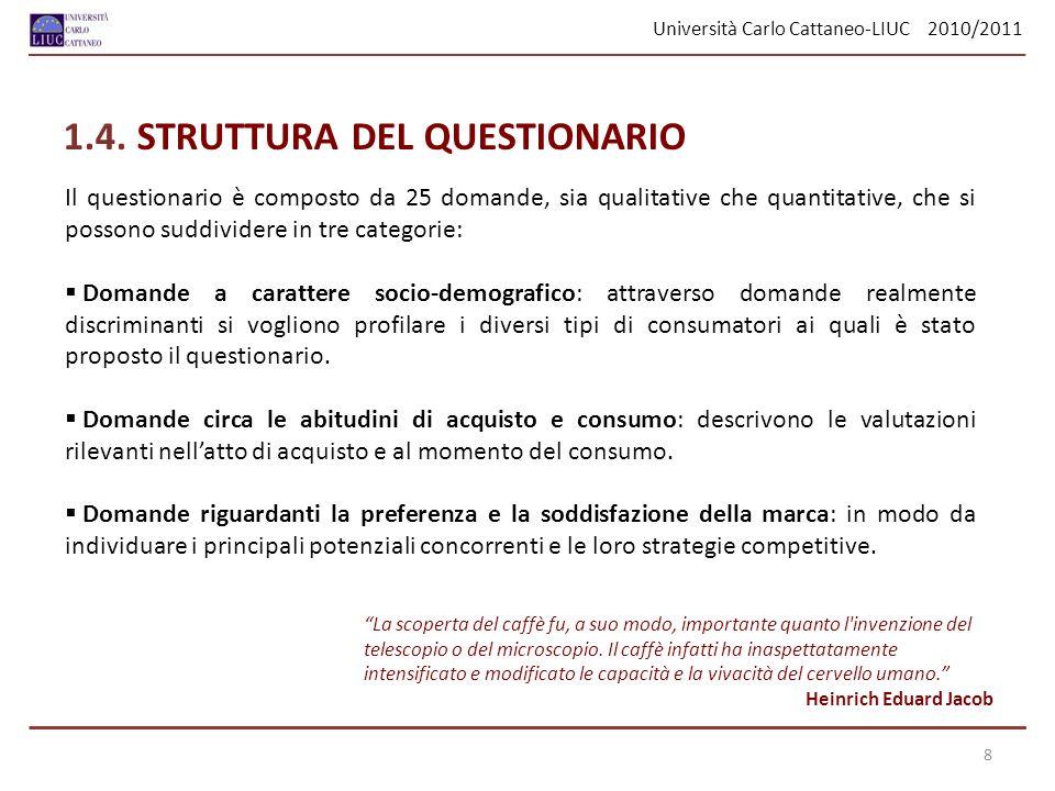 1.4. STRUTTURA DEL QUESTIONARIO