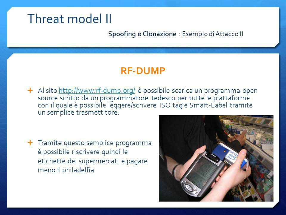 Threat model II RF-DUMP