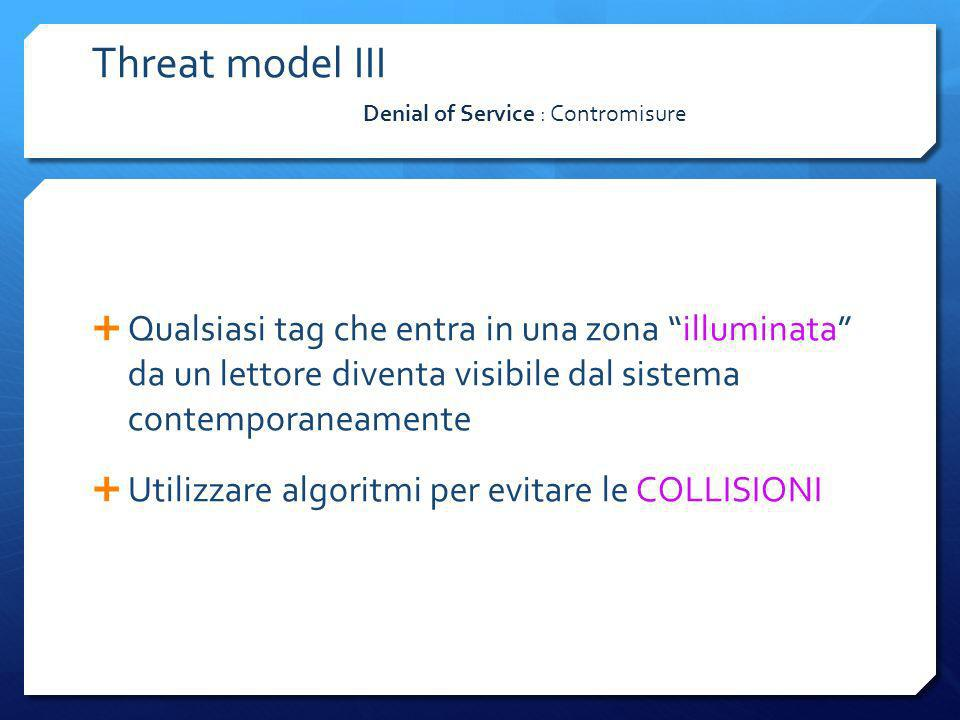 Threat model III Denial of Service : Contromisure.