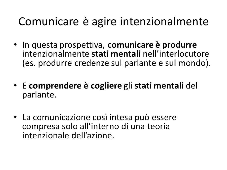 Comunicare è agire intenzionalmente