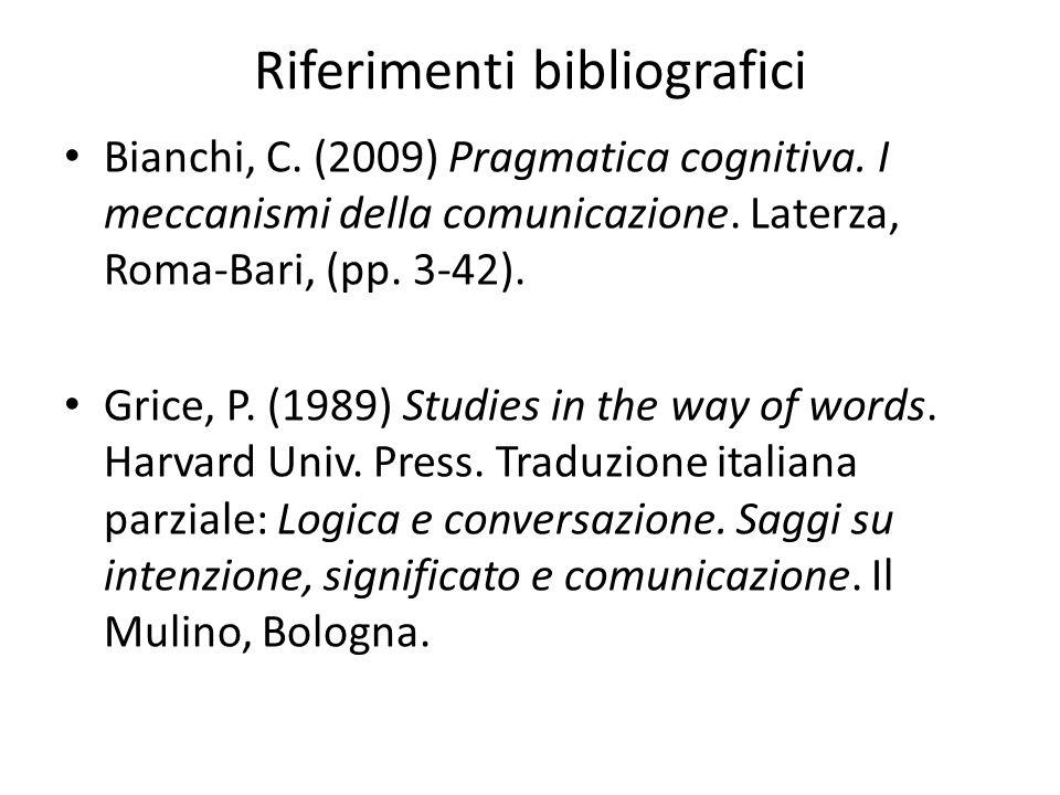 Riferimenti bibliografici