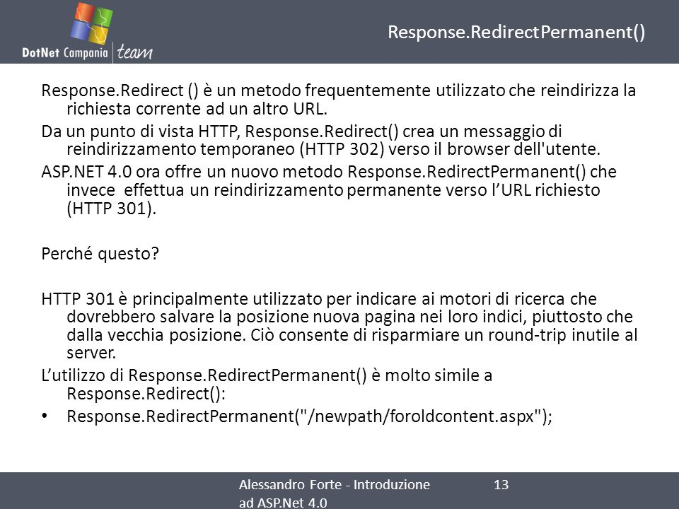 Response.RedirectPermanent()