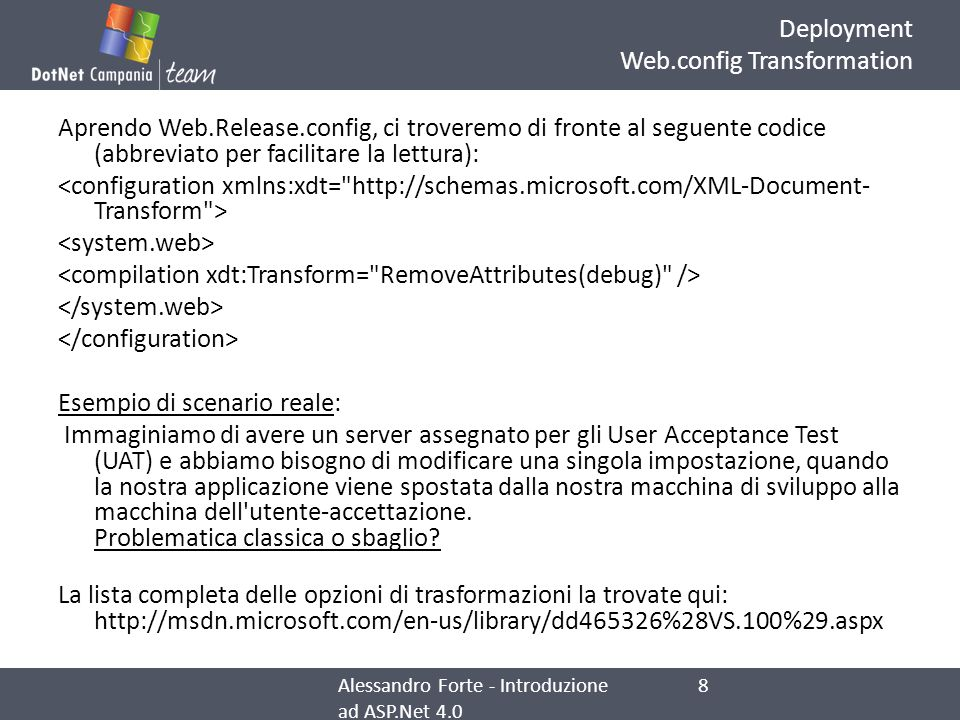 Deployment Web.config Transformation