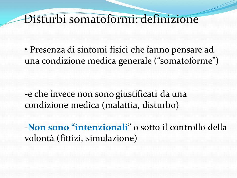 Disturbi somatoformi: definizione